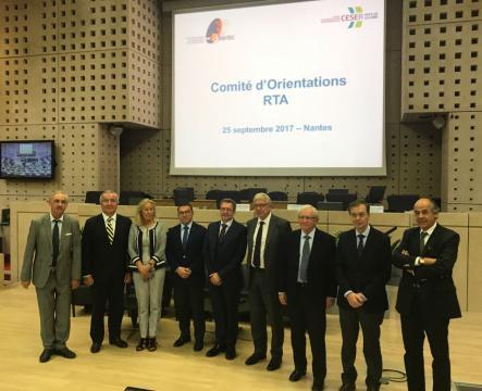 Corina Porro, cos seus homólogos en Nantes