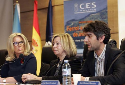 Corina Porro, Araceli Torres e Jorge Suárez