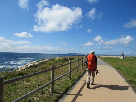 peregrino no camiño portugués