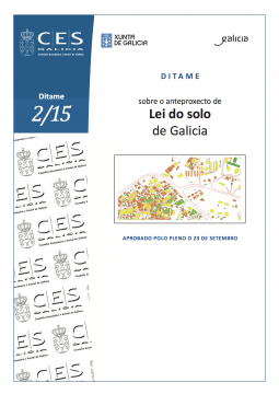 CES Galicia-ditame sobre o anteproxecto de Lei do solo de Galicia