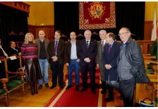 De esquerda a dereita, Corina Porro, Álvaro García, Diego Conde, Melchor Fernández, Juan Viaño, José Montes, Fernández Leiceaga e González Laxe (Foto: SERVIMAV-USC)